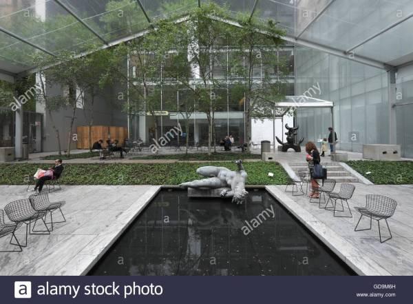 Usa York City Museum Of Modern Art- Moma Sculpture Stock Royalty Free