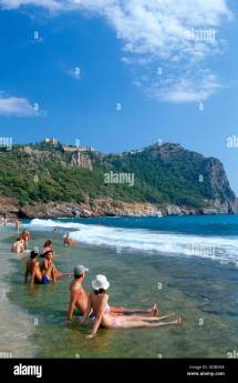 Cleopatra Beach Of Alanya Turkish Riviera Turkey Stock