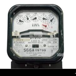 Ge Kilowatt Hour Meter Wiring Diagram 4 Pin Relay Driving Lights Watt Stock Photos And