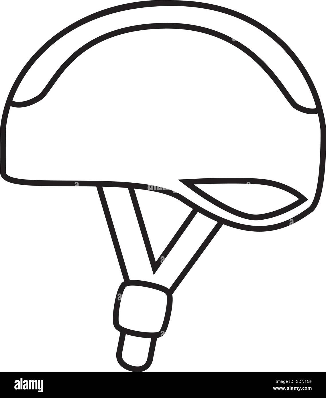 Bike Helmet Safety Icon Vector Illustration Design Stock