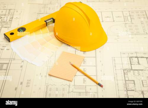 small resolution of objects related to construction such as floor plan tool helmet color code diary and pencil