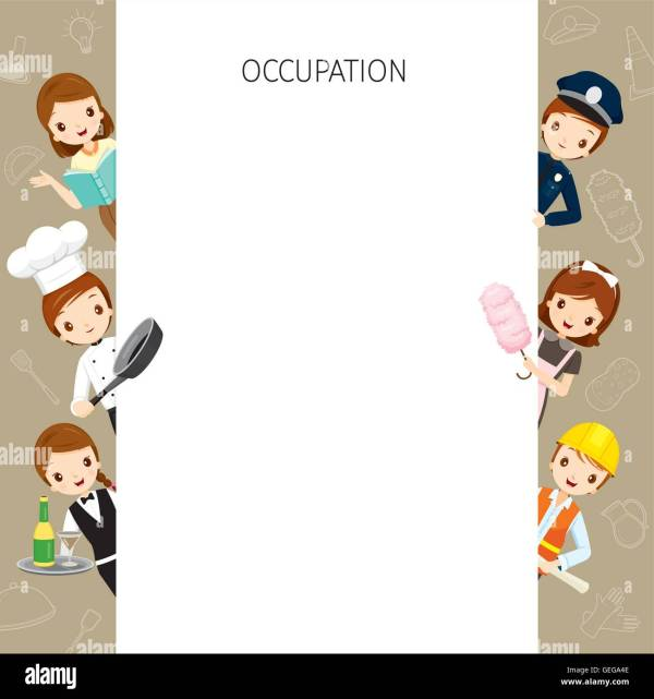 Occupations Clip Art Border
