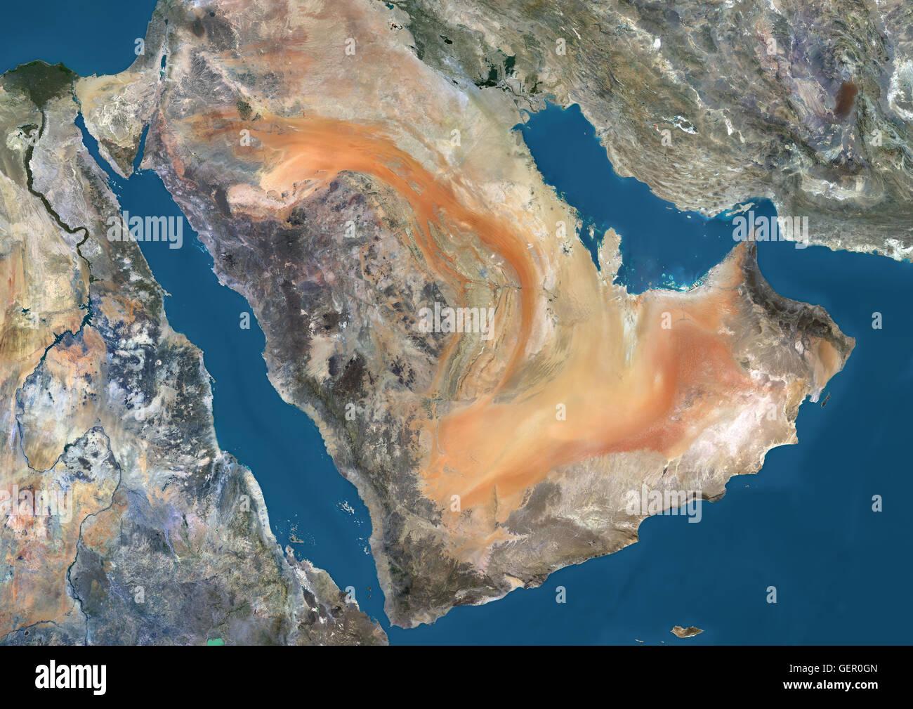 Satellite View Of The Arabian Peninsula This Image Was