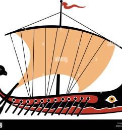 greek trireme ancient ship stock image [ 1300 x 1102 Pixel ]