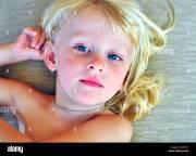 blonde hair blue eyes stock