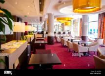 Intercontinental Hotel Interior Restaurant Stock
