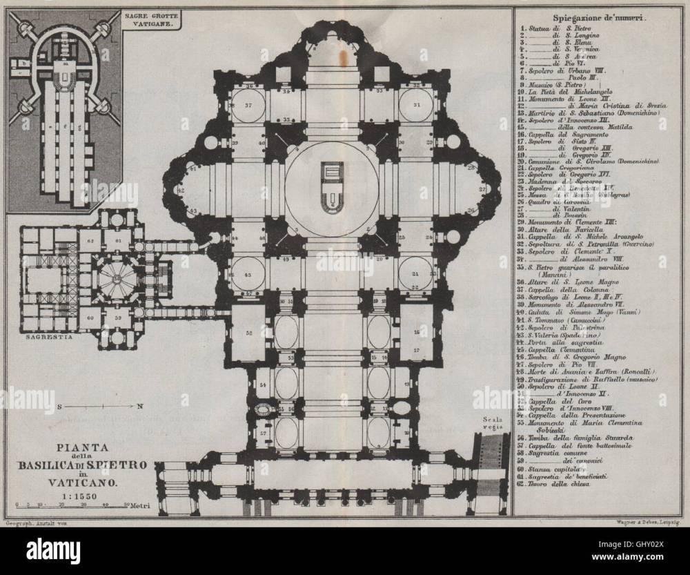 medium resolution of basilica di san pietro in vaticano pianta floor plan 1909