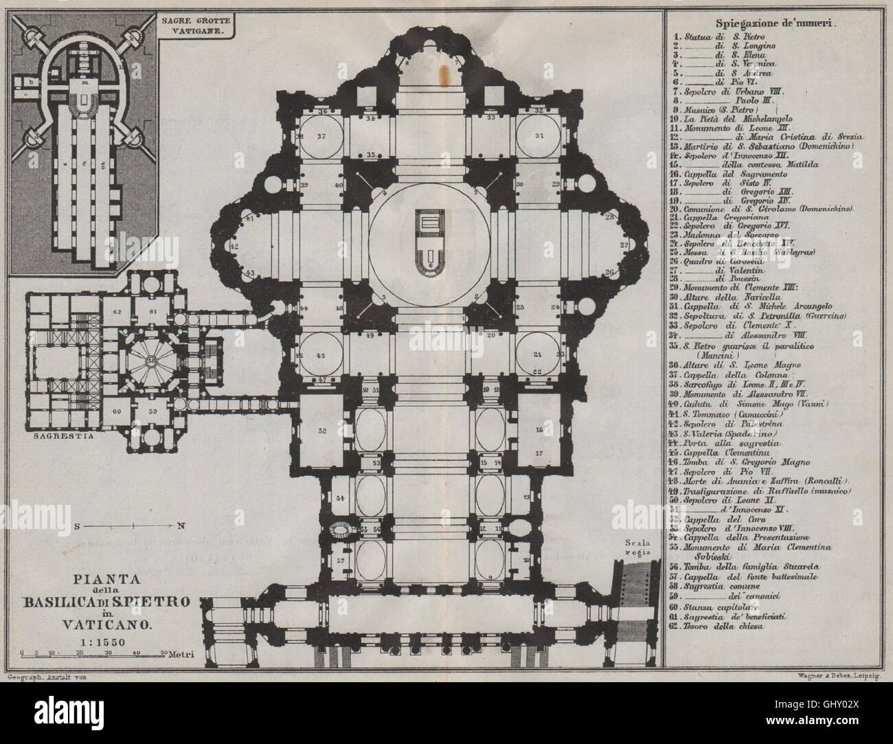 hight resolution of basilica di san pietro in vaticano pianta floor plan 1909