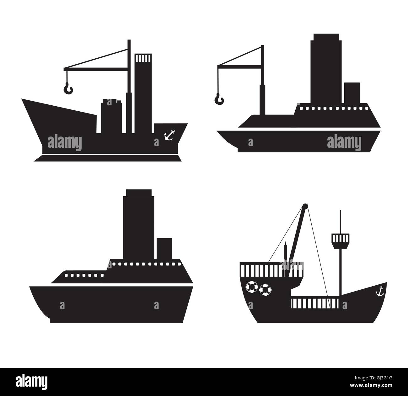 hight resolution of illustration of boat ship cruise and pirate ship vector illustra