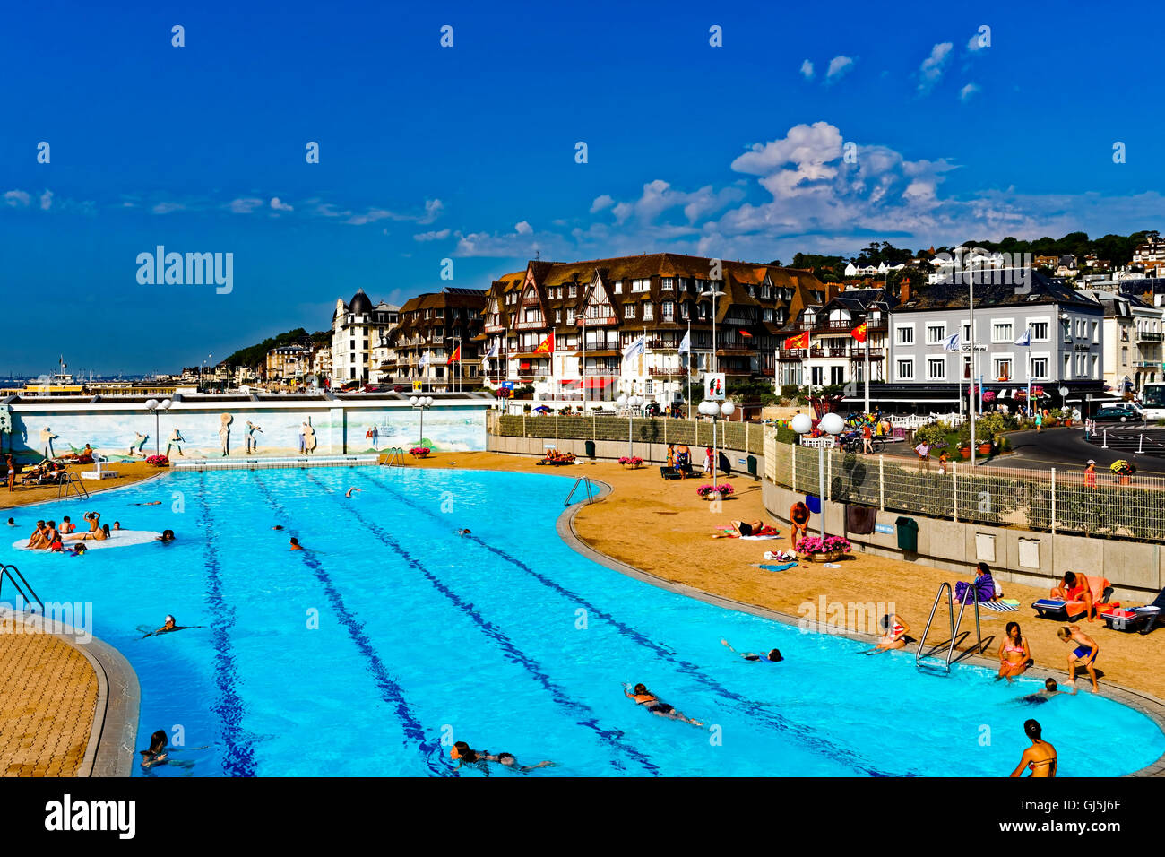 Beach Hotel In Trouville Deauville Normandy France Stock