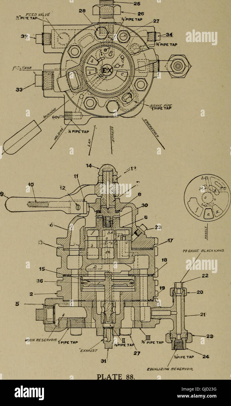 hight resolution of air brake text for engineers and firemen 1908 stock image
