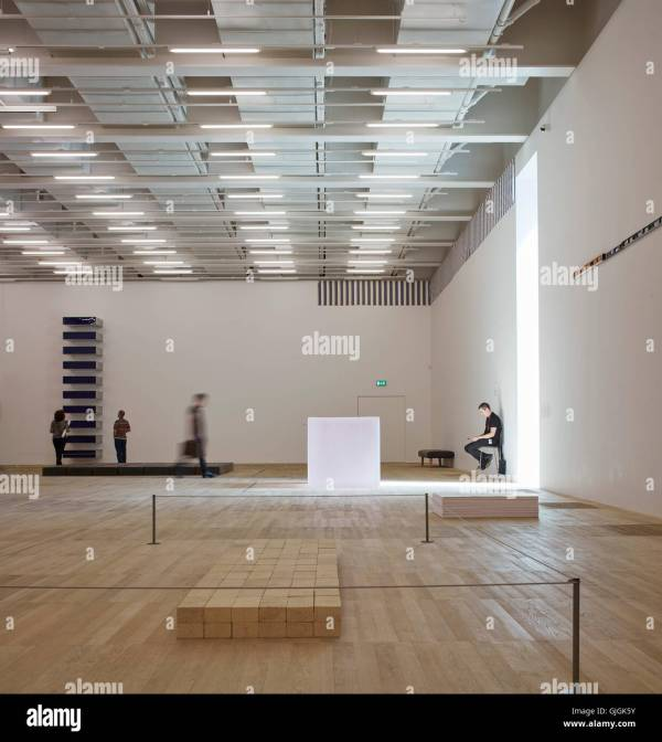 Interior With Artobjects. Switch House Tate Modern Stock Royalty Free