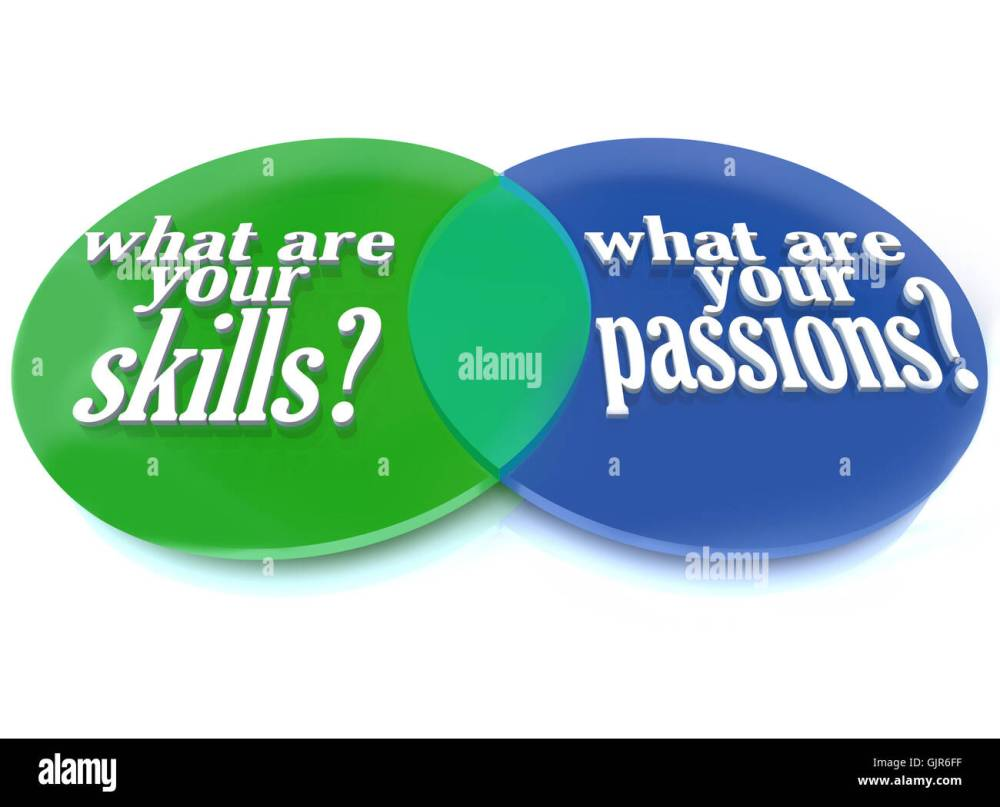 medium resolution of what are your skills and passions venn diagram