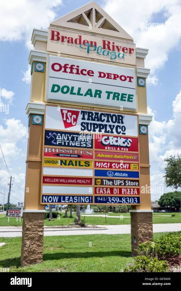 Bradenton Florida Braden River Plaza Strip Mall Shopping