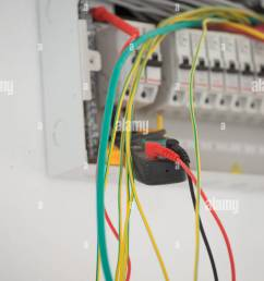 electrical measurements in new cabinet with multimeter stock image domestic fuse box [ 866 x 1390 Pixel ]