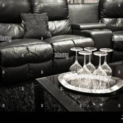 Theatre Room Chairs Folding Chair Grey Home Leather Recliners Stock Photo 115214862 Alamy