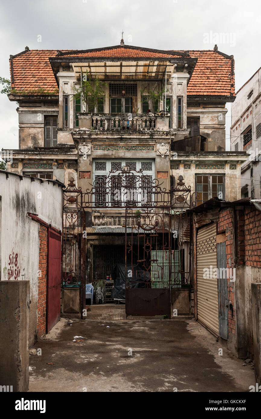 French Colonial Style House : french, colonial, style, house, French, Colonial, Style, House, Minh,, Vietnam, Stock, Photo, Alamy
