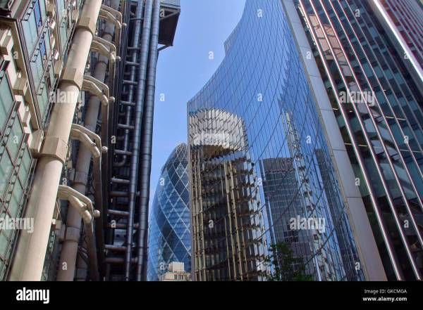 Lloyds Building And Willis Towers Watson In Stock Royalty Free