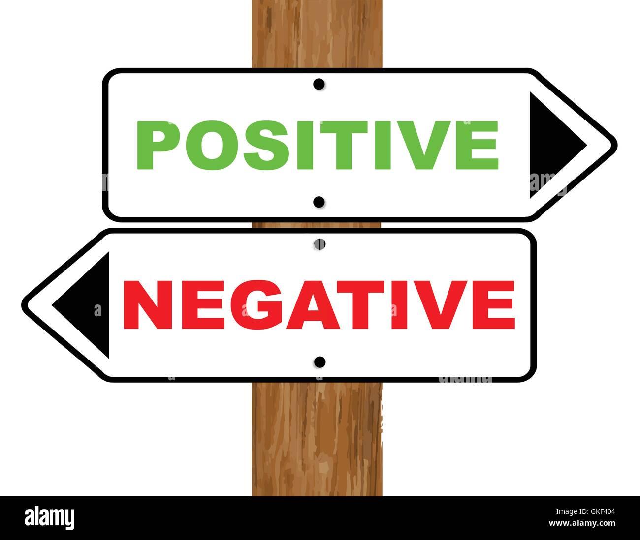 Positive Negative Stock Vector Image & Art - Alamy