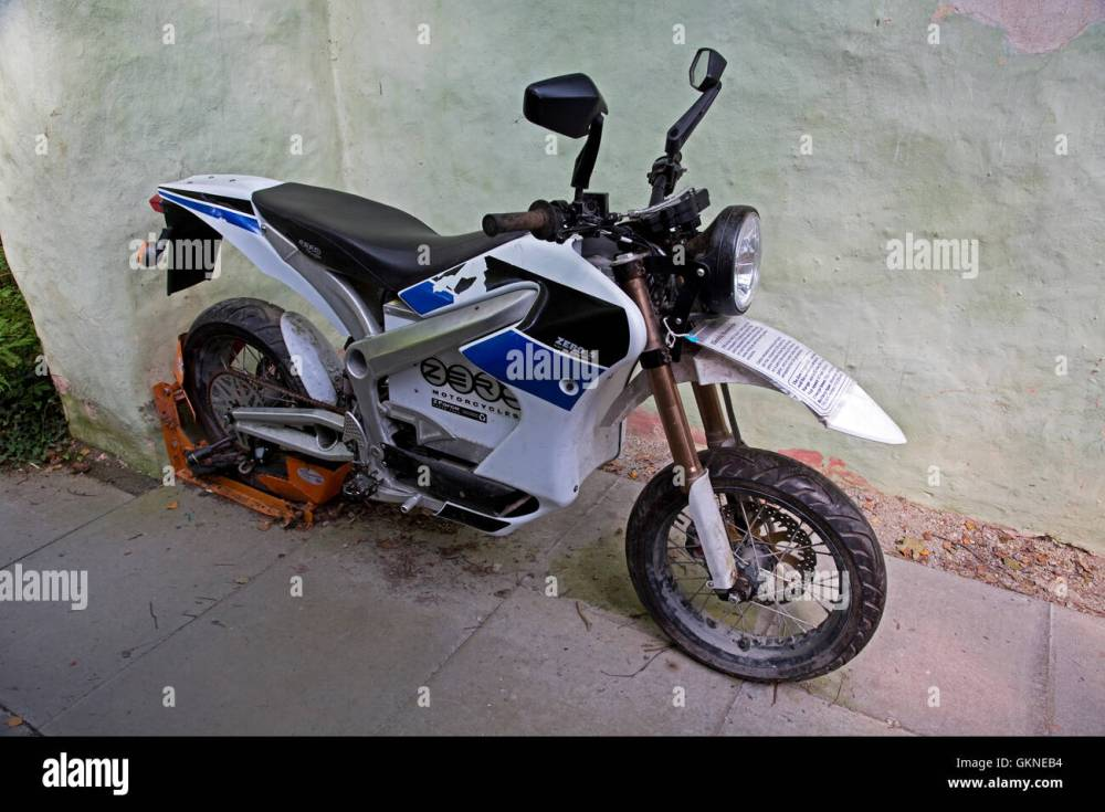medium resolution of zero s z force electric motorcycle centre for alternative technology machynlleth wales stock image