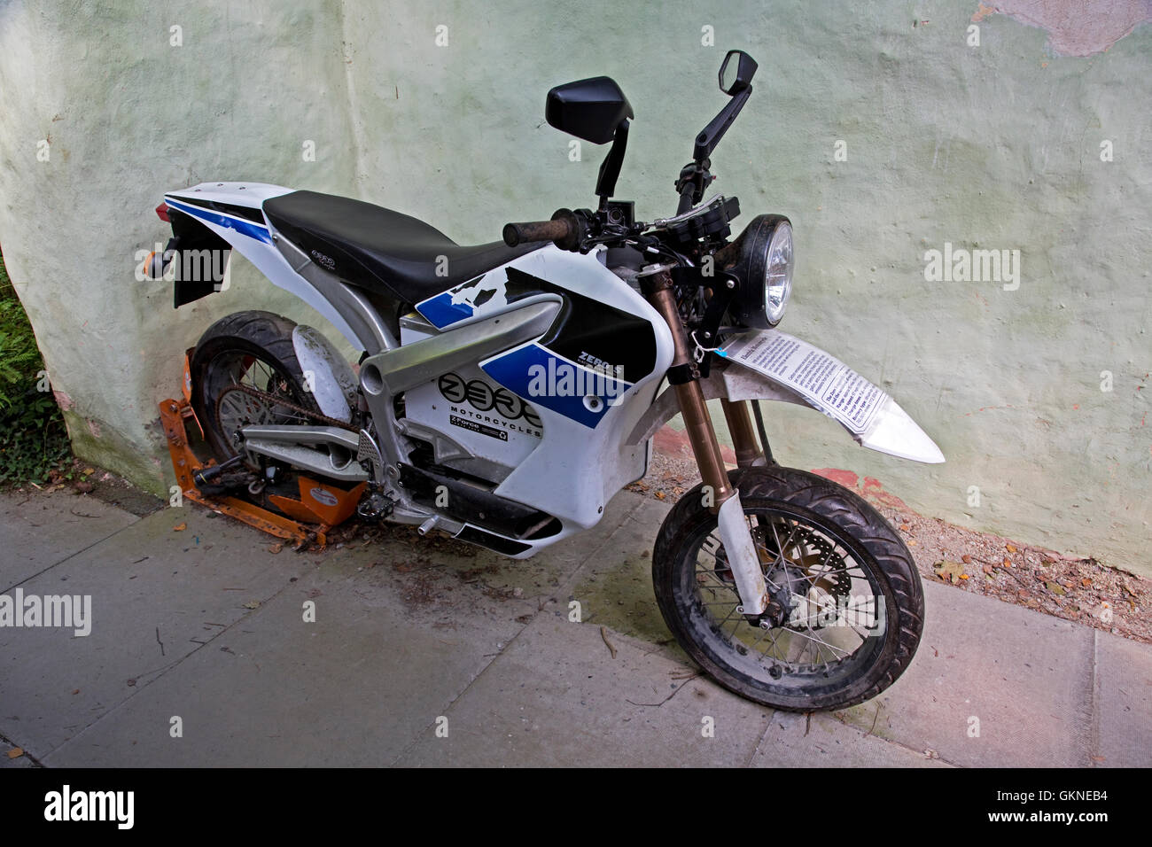 hight resolution of zero s z force electric motorcycle centre for alternative technology machynlleth wales stock image