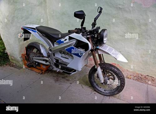 small resolution of zero s z force electric motorcycle centre for alternative technology machynlleth wales stock image
