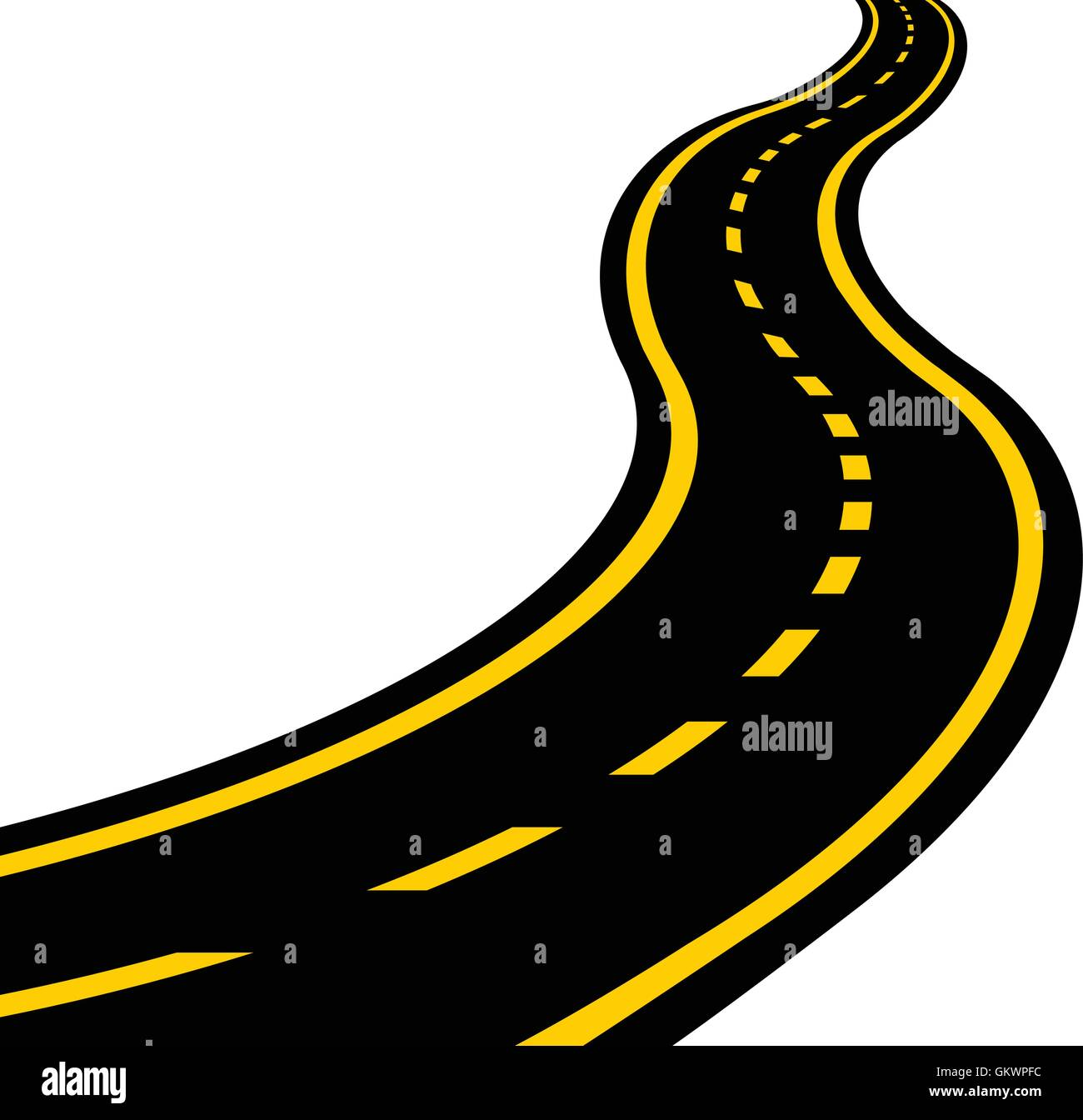 hight resolution of winding road