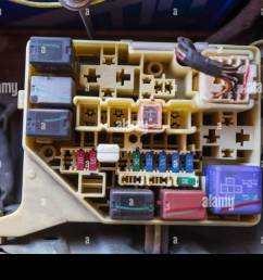 the man opening fuse box of old car stock photo 116320494 alamy old apartment fuse box old car fuse box [ 1300 x 956 Pixel ]