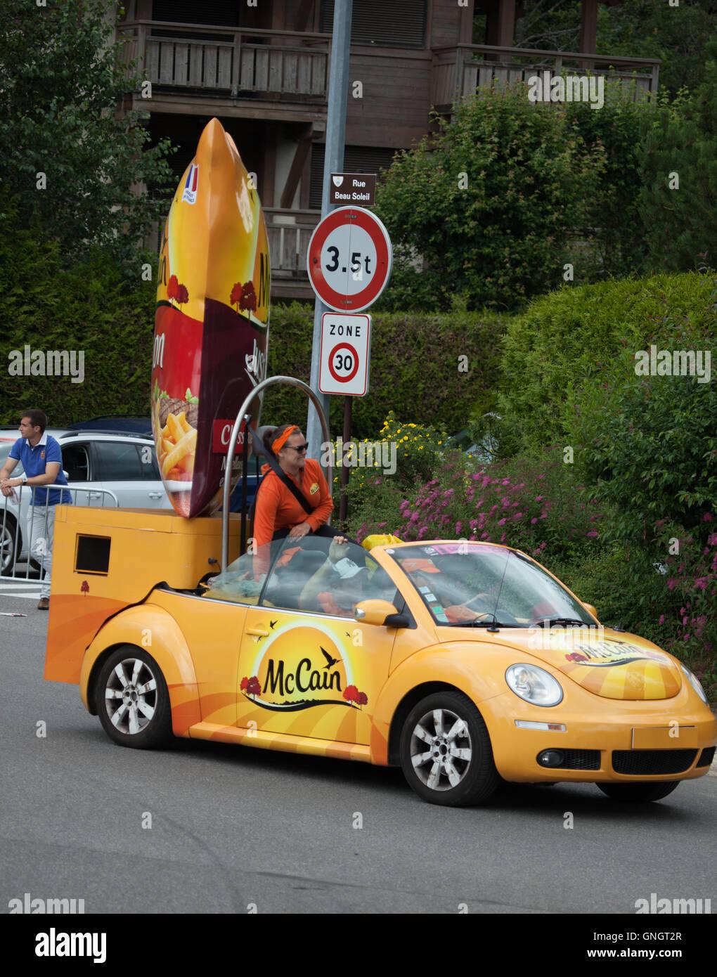 Caravane Du Tour De France : caravane, france, Caravane, France, Stock, Photo, Alamy