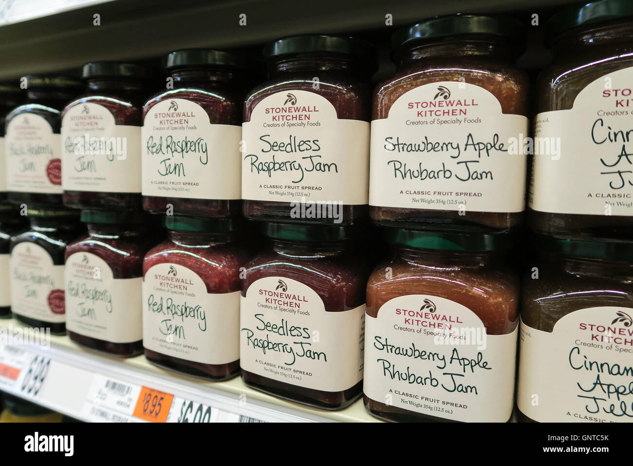 stonewall kitchen com hotel suites with jams at wegmans grocery store westwood stock massachusetts usa
