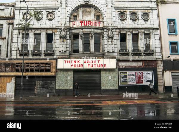 Futurist Cinema Facade Lime Street In Liverpool City