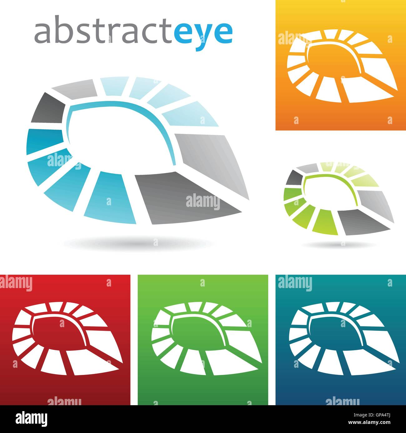 hight resolution of vector illustration of geometric abstract eye shape
