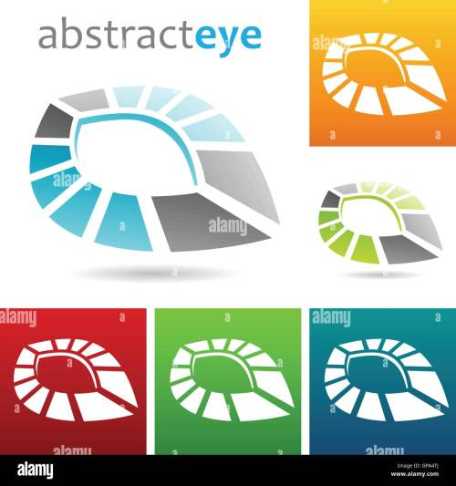 small resolution of vector illustration of geometric abstract eye shape