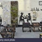 Wall Art Restaurant Outside Seating In Aveiro Portugal Europe Stock Photo Alamy