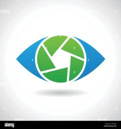 design concept of a logo shape and icon of a shutter eye [ 1300 x 1390 Pixel ]