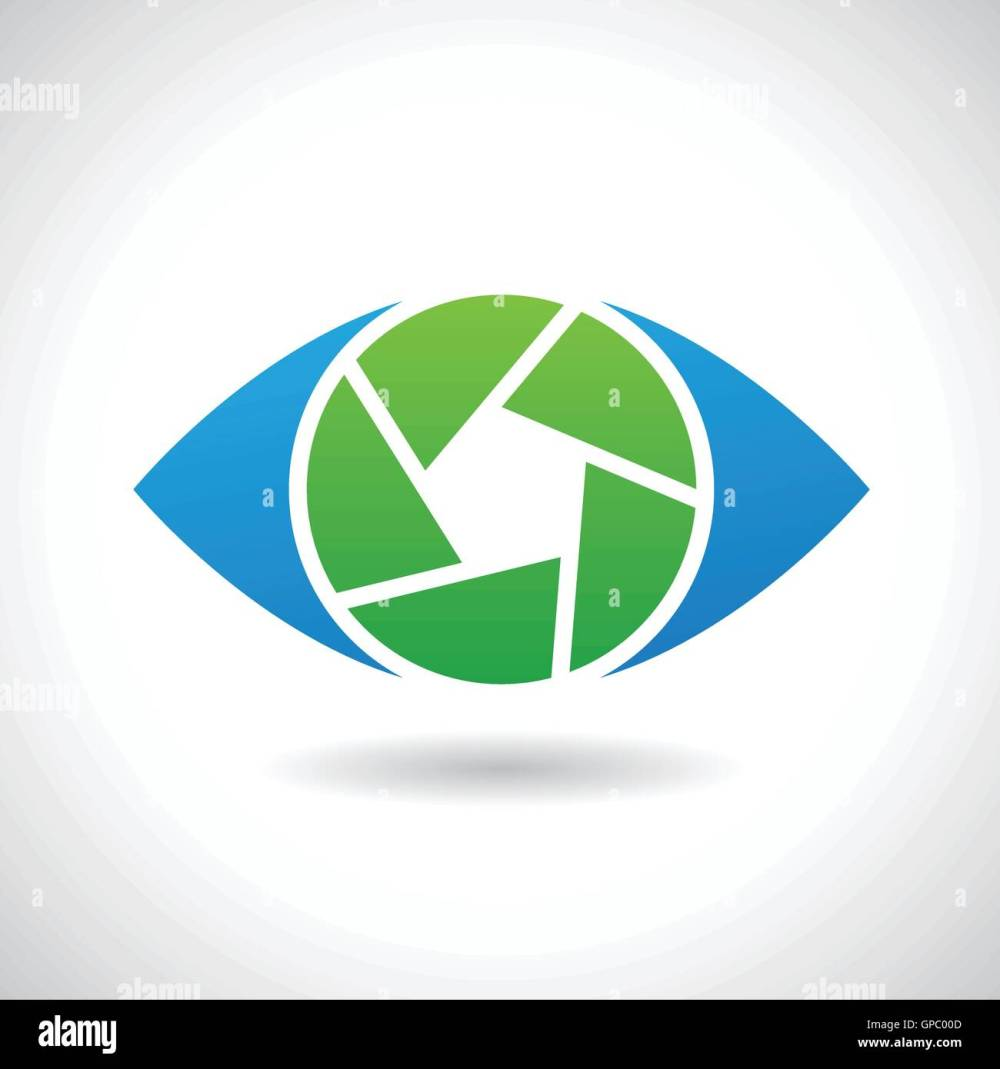 medium resolution of design concept of a logo shape and icon of a shutter eye