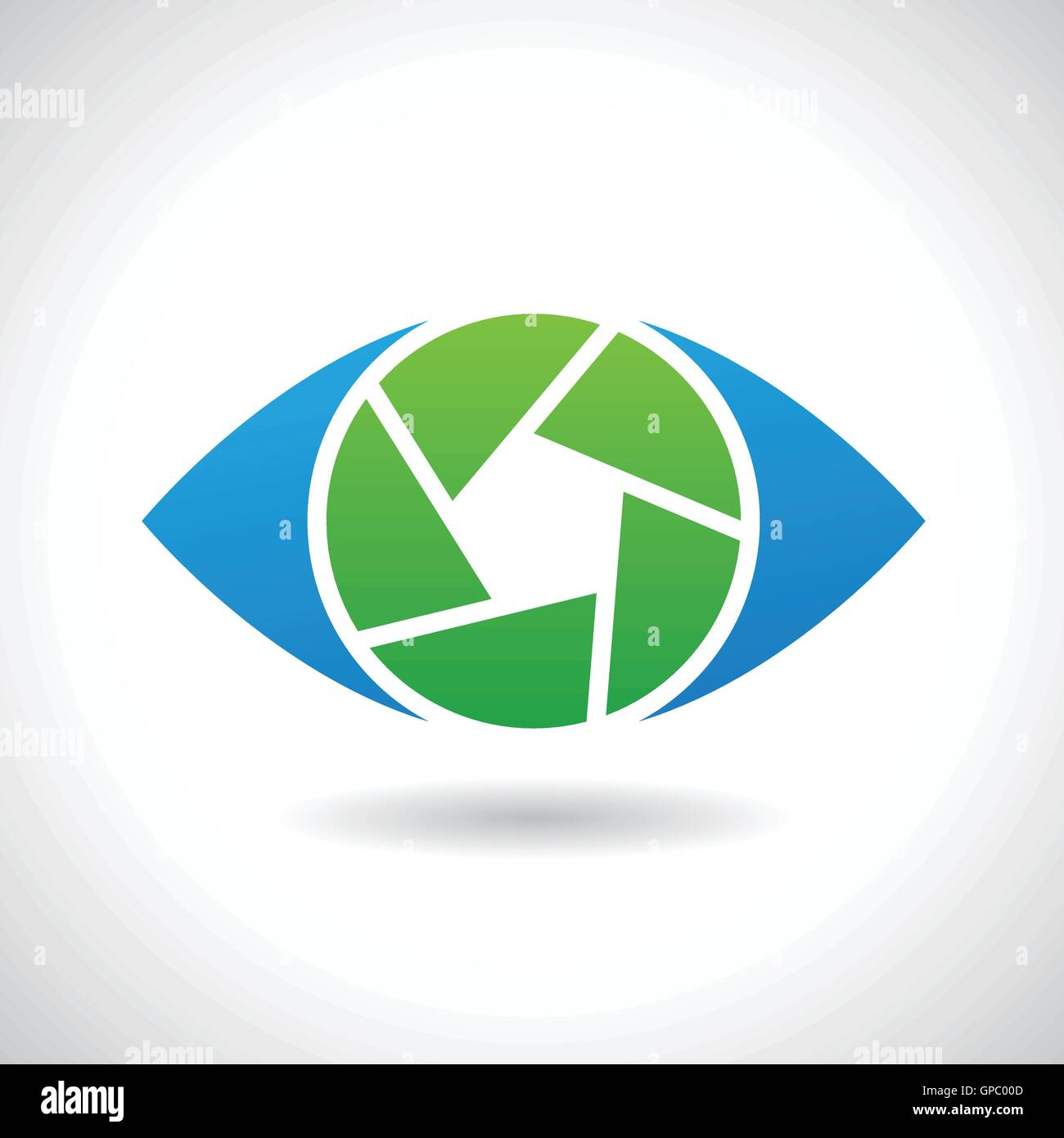 hight resolution of design concept of a logo shape and icon of a shutter eye