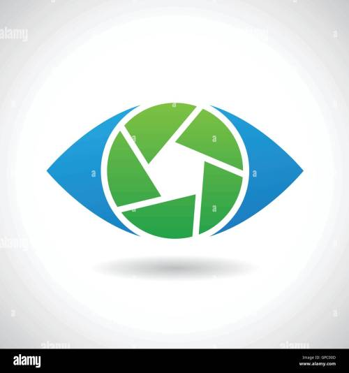 small resolution of design concept of a logo shape and icon of a shutter eye
