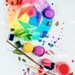 Macaron Food Sweet Color Wheel Art Artist Palette Watercolor Paint Stock Photo Alamy