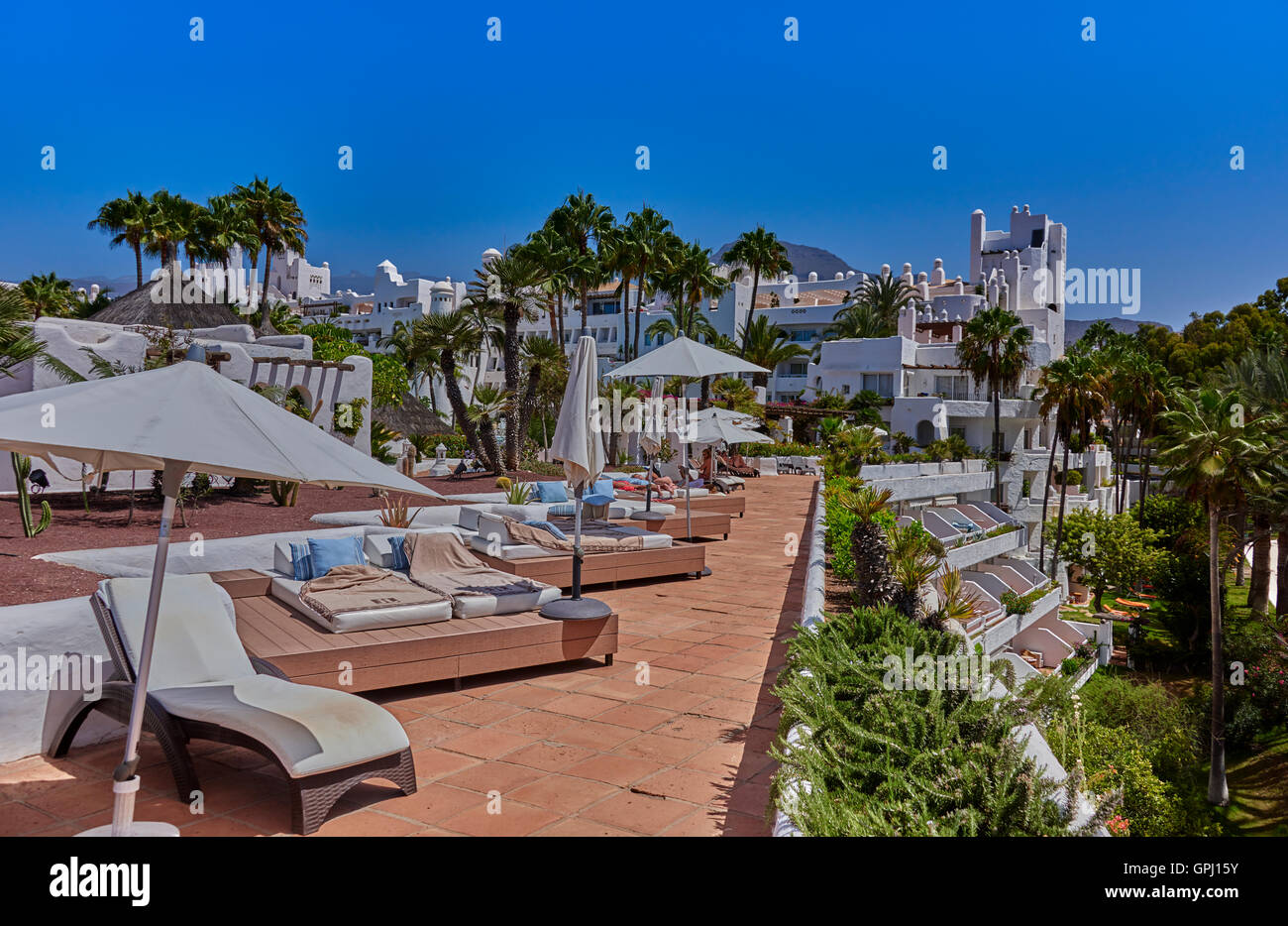 Hotel Jardin Tropical, Costa Adeje Tenerife Stock Photo