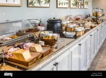 Breakfast Buffet Setup In Hotel Hdr Stock