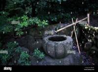 Japanese Garden Fountain Bamboo Stock Photos & Japanese