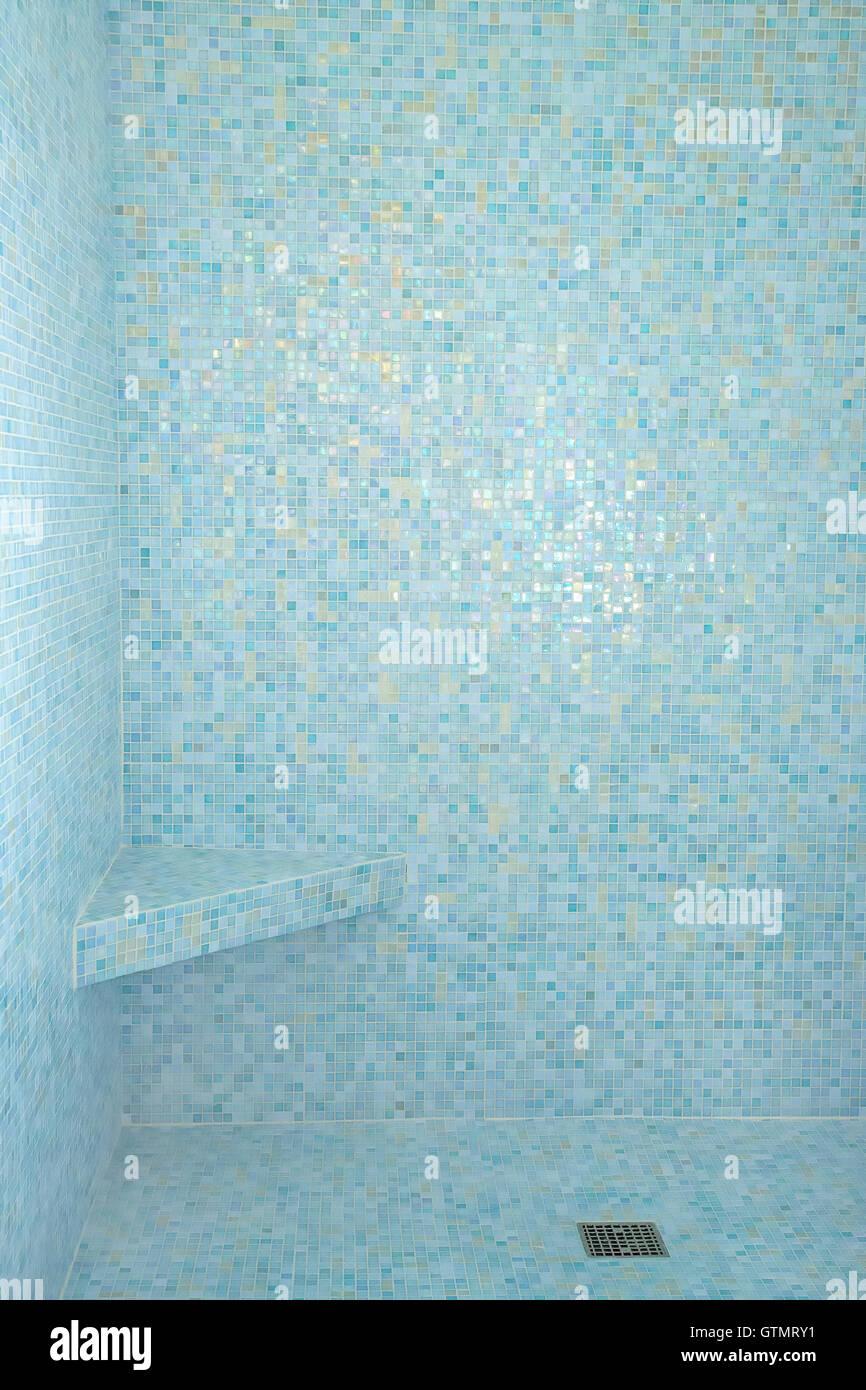 https www alamy com stock photo aqua blue mosaic tiles inside shower bath 118471781 html