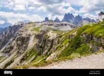 Italy Province Belluno Veneto Auronzo Stock &