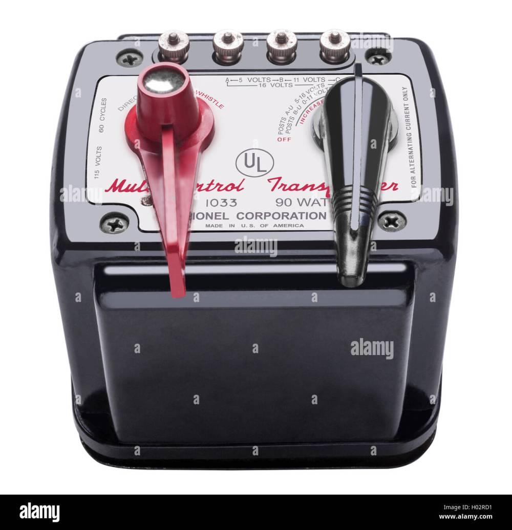 medium resolution of lionel 1033 90 watt multi control transformer stock image