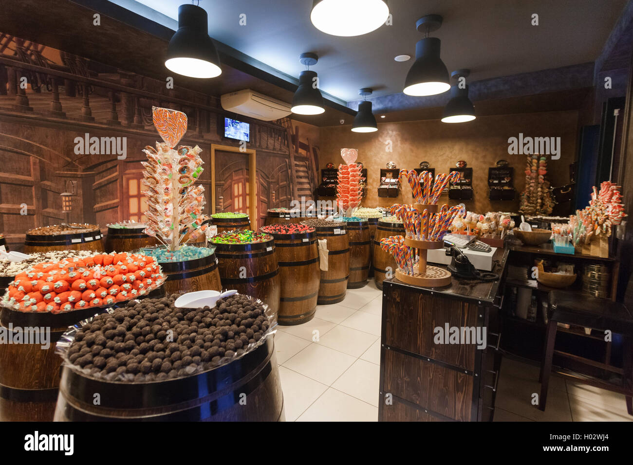 DUBROVNIK CROATIA  MAY 28 2014 Interior of the Candy