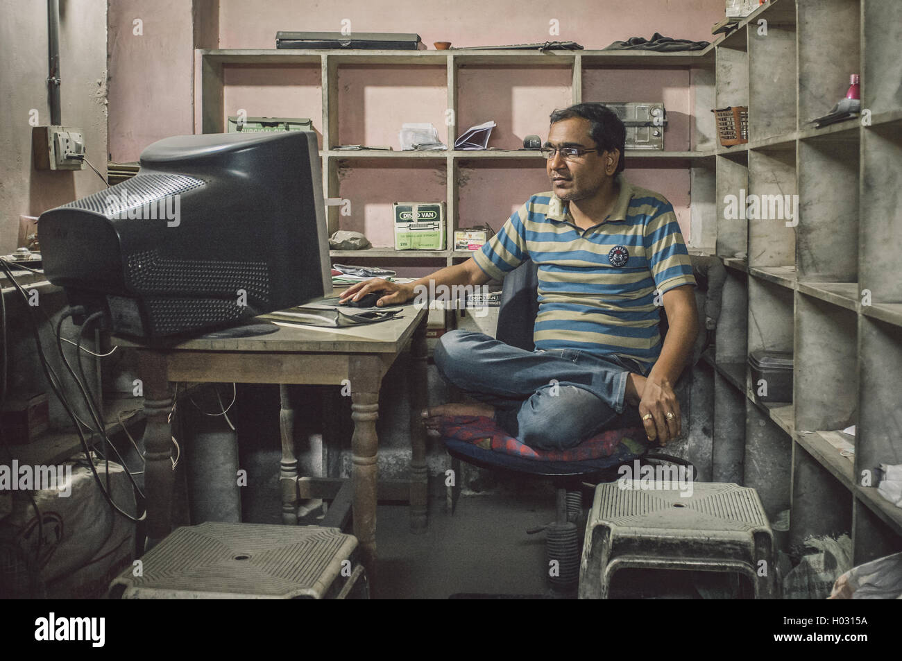 steel chair in guwahati office blanket indian post stock photos and
