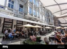 Mozart Cafe Hotel Sacher Vienna Austria Stock