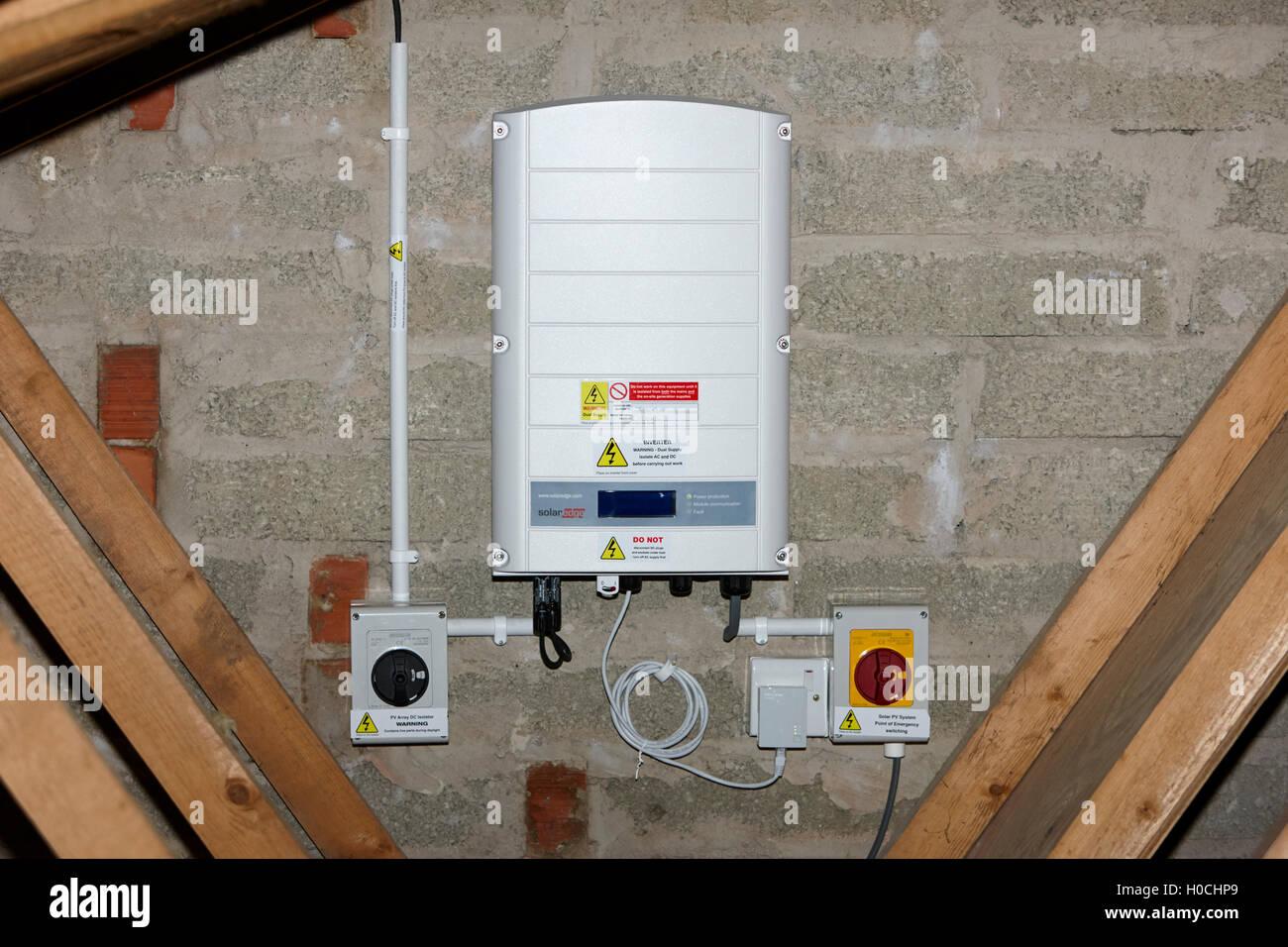 solar pv wiring diagram uk database model visio 2010 solaredge inverter in a domestic panel installation