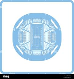 american football stadium bird s eye view icon blue frame design vector illustration  [ 1300 x 1390 Pixel ]